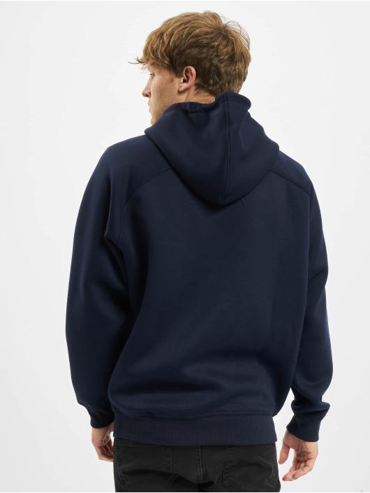 Urban Classics Bluzy z kapturem Raglan Zip Pocket niebieski