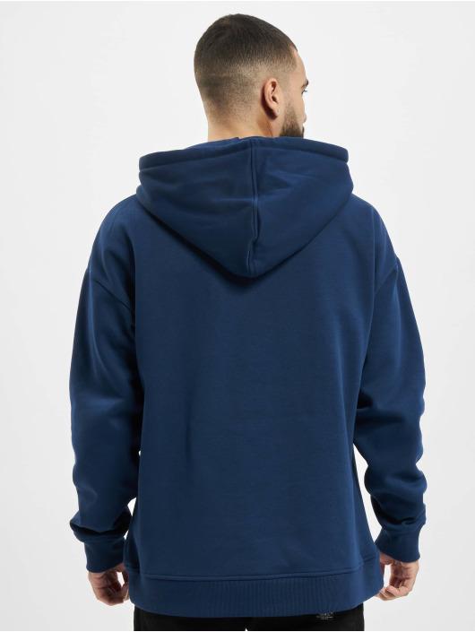 Urban Classics Bluzy z kapturem College Print niebieski
