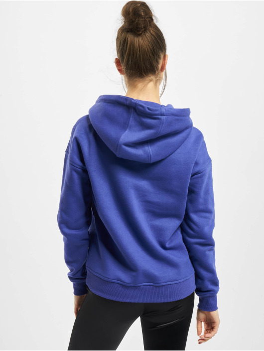 Urban Classics Bluzy z kapturem Ladies niebieski
