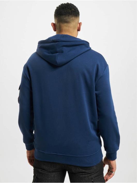 Urban Classics Bluzy z kapturem Commuter niebieski
