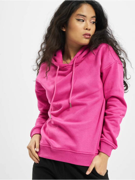 Urban Classics Bluzy z kapturem Ladies pink