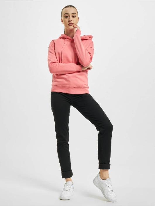 Urban Classics Bluzy z kapturem Ladies pink