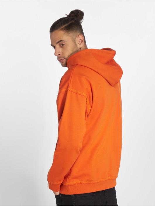 Urban Classics Bluzy z kapturem Oversized pomaranczowy