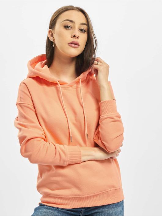 Urban Classics Bluzy z kapturem Ladies pomaranczowy