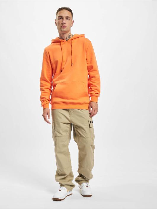 Urban Classics Bluzy z kapturem Organic Basic pomaranczowy
