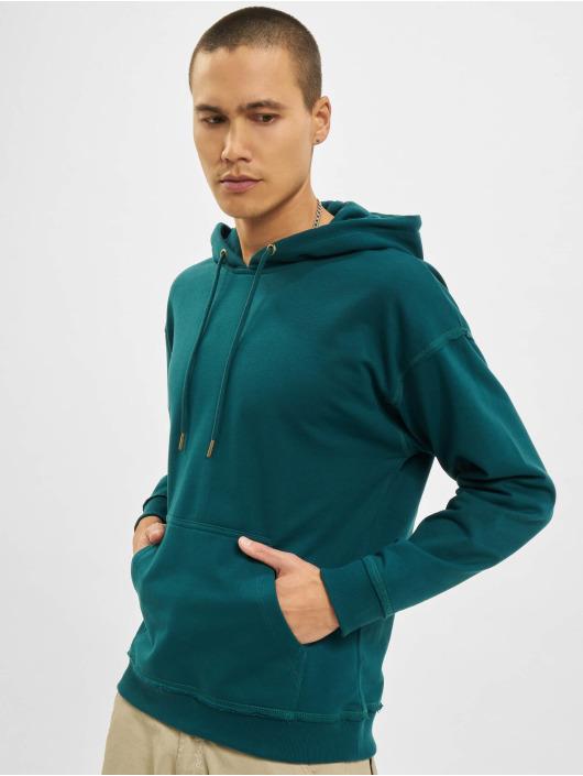 Urban Classics Bluzy z kapturem Oversized turkusowy