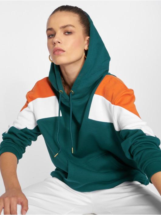 Urban Classics Bluzy z kapturem Oversize 3-Tone Block zielony
