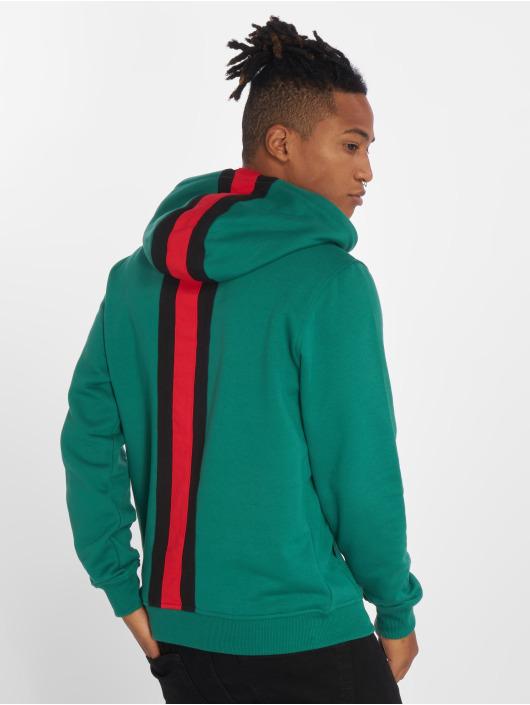 Urban Classics Bluzy z kapturem Back Stripe zielony