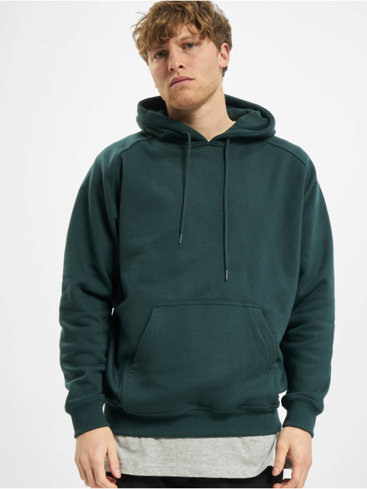 Urban Classics Bluzy z kapturem Blank zielony