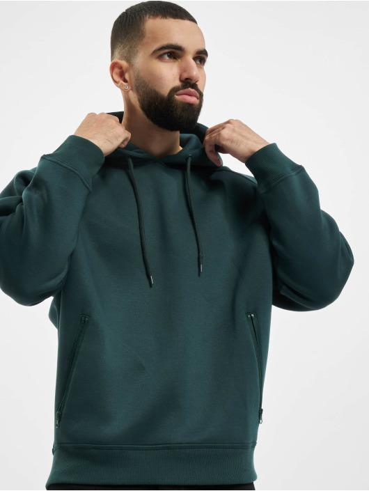Urban Classics Bluzy z kapturem Raglan Zip Pocket zielony