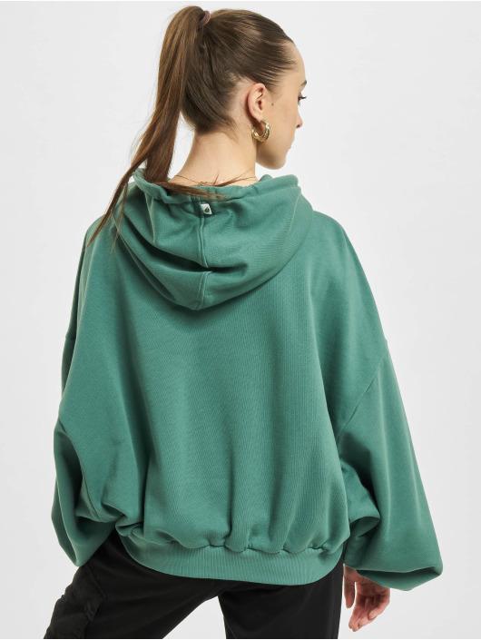 Urban Classics Bluzy z kapturem Ladies Organic Oversized Terry zielony