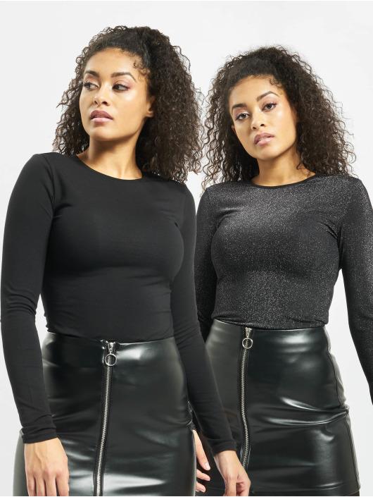 Urban Classics Body Ladies Lurex  2 Pack noir
