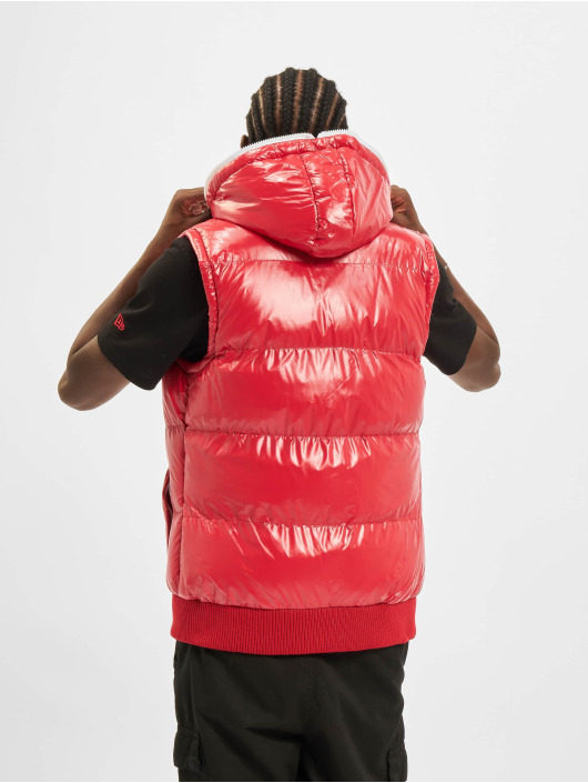Urban Classics Bodywarmer Hooded Bubble rood