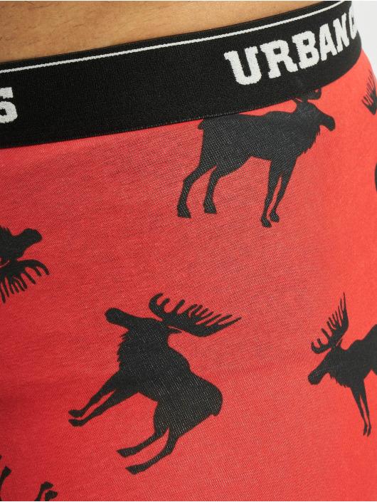 Urban Classics Bokserki Boxer Shorts 3-Pack czerwony