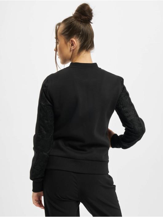 Urban Classics Bomber jacket Ladies Lace black