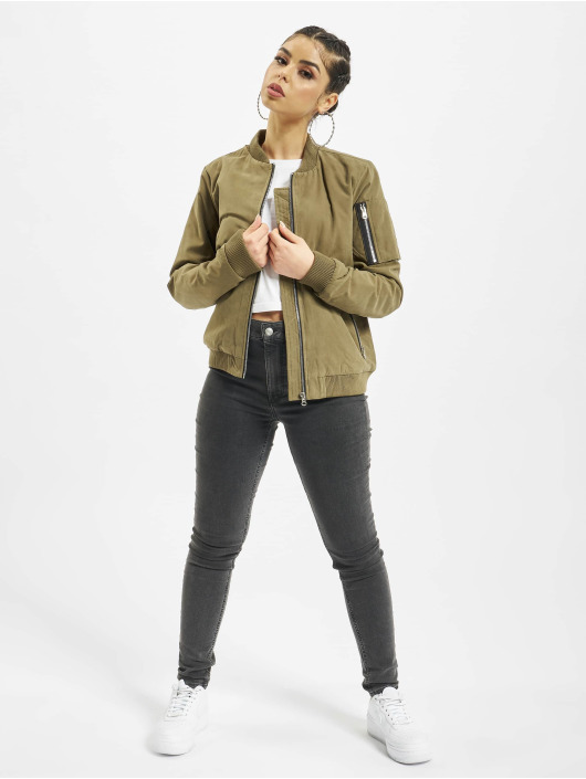 Urban Classics Bomber jacket Ladies Peached olive