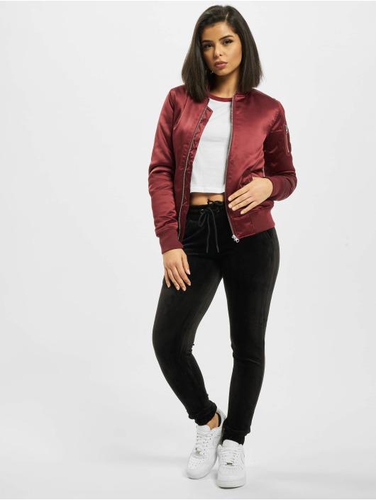 Urban Classics Bomber jacket Ladies Satin Bomber red
