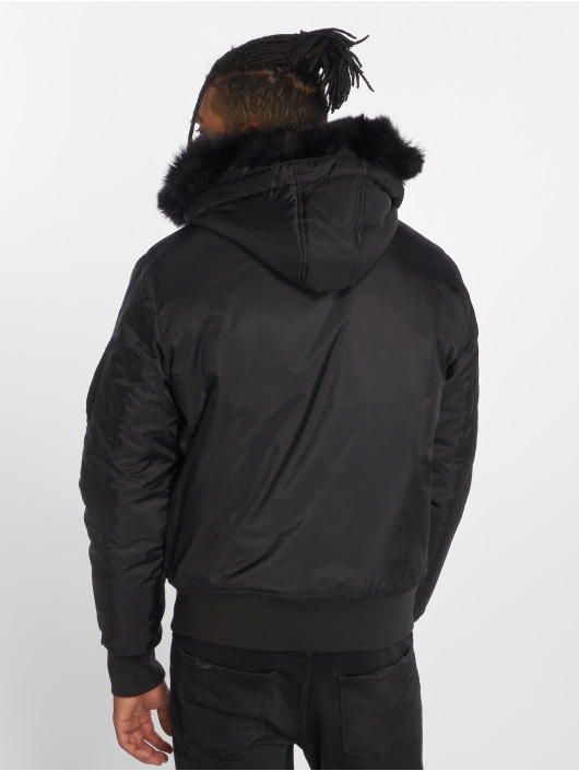 Urban Classics Bomber Hooded Basic noir