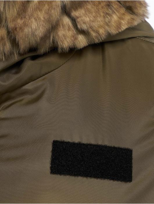 Urban Classics Bomber Imitation Fur olive