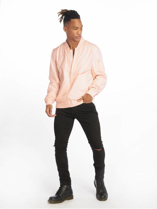 Urban Classics Bomberjacke Light rosa