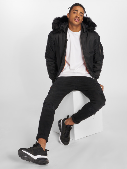 Urban Classics Bomberjacke Hooded Basic schwarz