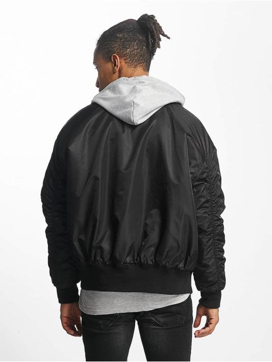 Urban Classics Bomberjacke Hooded Oversized schwarz
