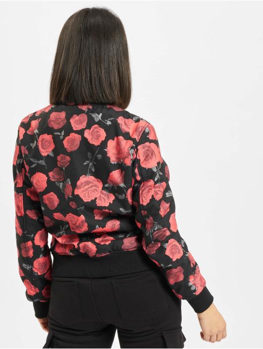 Urban Classics Bomberjacke Roses schwarz