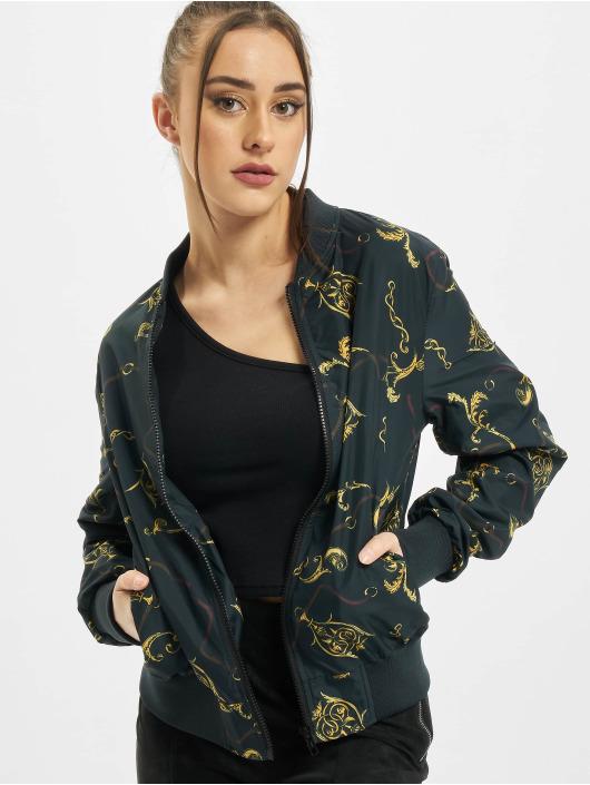 Urban Classics Bomberová bunda Ladies AOP èierna