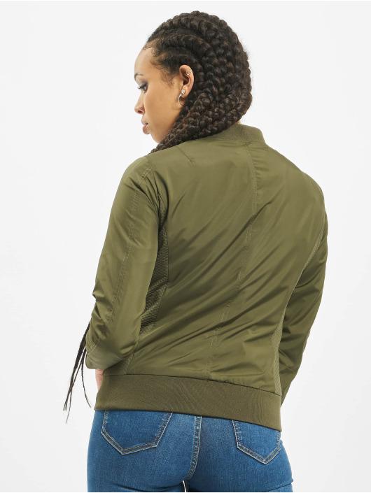 Urban Classics Bomberová bunda Ladies Light zelená