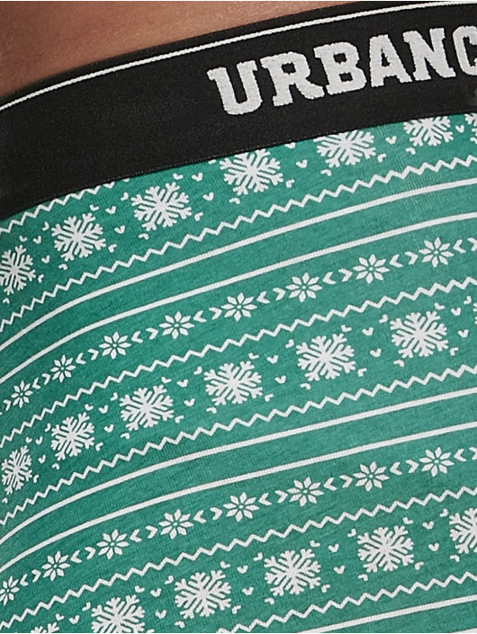 Urban Classics Boxer Short Christmas Fun 3-er Pack green