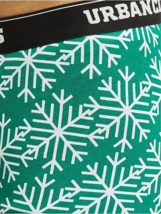Urban Classics Boxerky Christmas Norwegian 3-er Pack čern