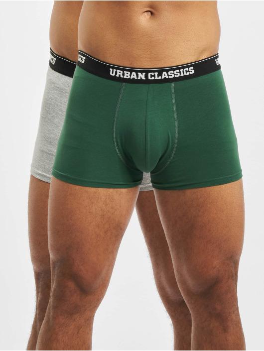 Urban Classics Boxerky Men Double Pack zelená