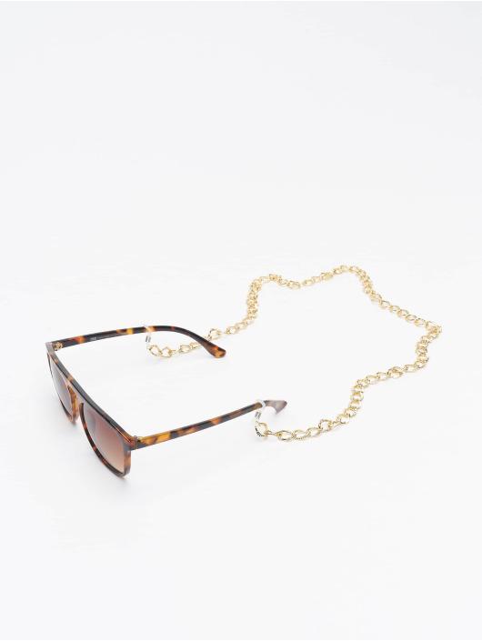 Urban Classics Brýle Sunglasses Mykonos With Chain hnědý