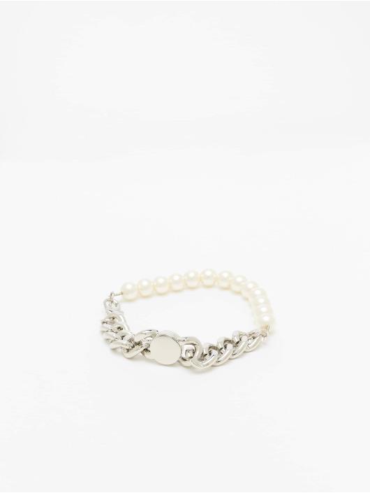 Urban Classics Bracciale Pearl Flat Chain argento