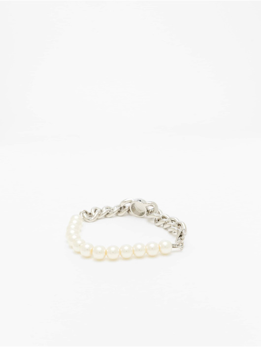 Urban Classics Bracelet Pearl Flat Chain silver colored