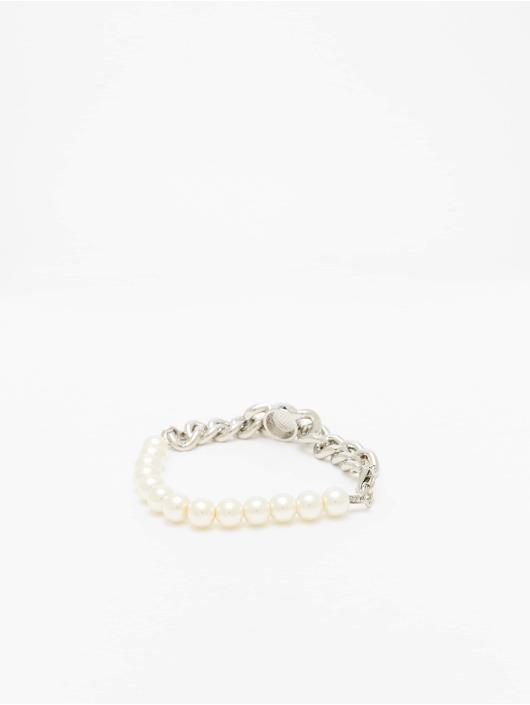 Urban Classics Bransolety Pearl Flat Chain srebrny