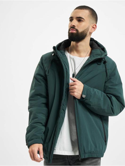 Urban Classics Bundy na přechodné roční období Hooded Easy zelený