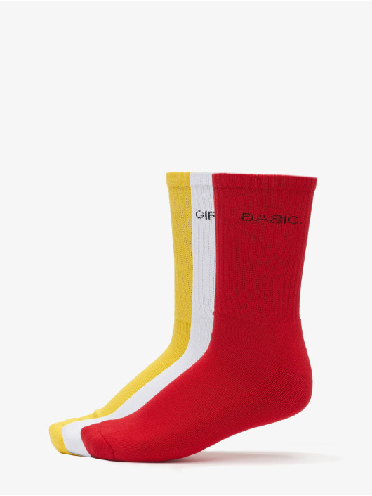 Urban Classics Calcetines Wording Socks 3-Pack amarillo