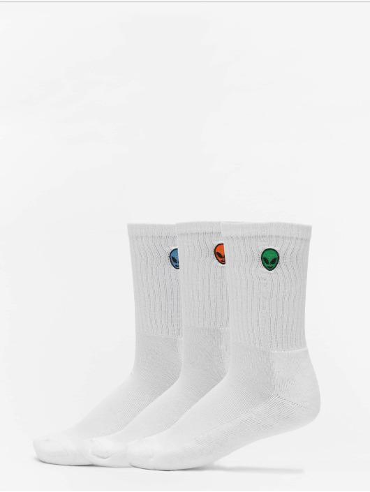 Urban Classics Calcetines Alien Socks 3-Pack blanco