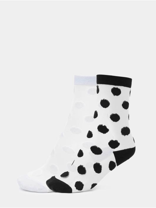 Urban Classics Calcetines Net Socks Dots blanco