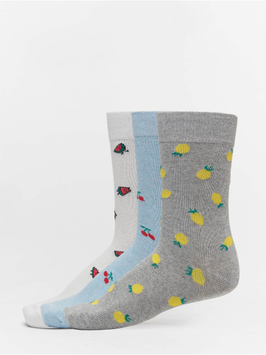 Urban Classics Calcetines Recycled Yarn Fruit 3-Pack gris