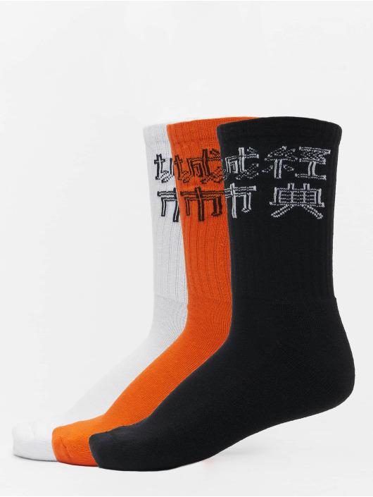 Urban Classics Calcetines Chinese Logo 3-Pack negro