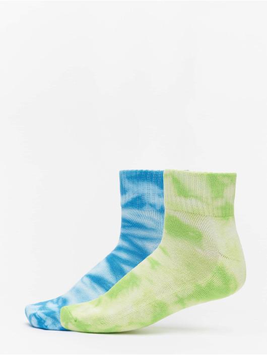 Urban Classics Calcetines Tie Dye Socks Short 2-Pack verde