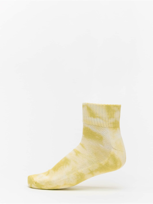 Urban Classics Calzino Tie Dye Socks Short 2-Pack arancio