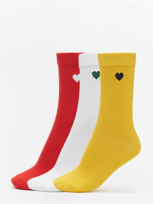 Urban Classics Calzino Heart Socks 3-Pack giallo