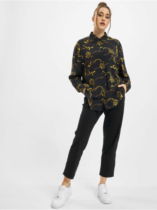 Urban Classics Camisa Ladies Viscose Oversize negro