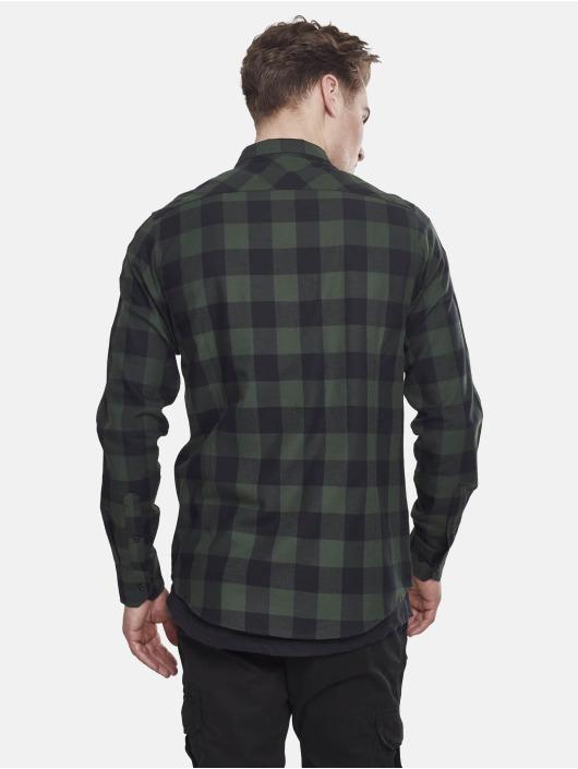 Urban Classics Camisa Checked Flanell negro