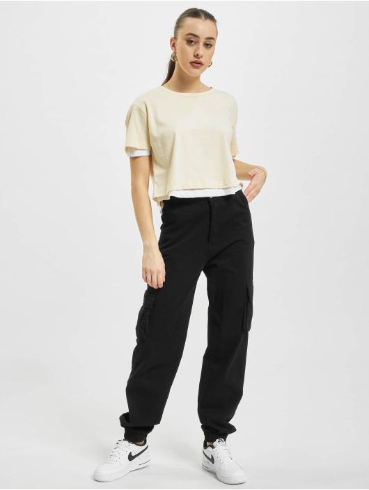 Urban Classics Camiseta Full Double Layered beis