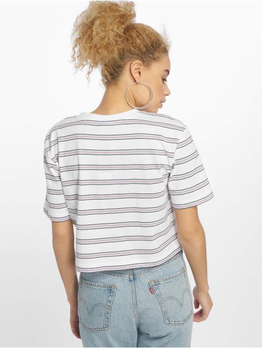 Urban Classics Camiseta Short Multicolor Stripe blanco