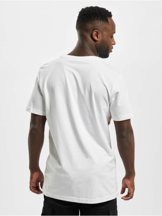 Urban Classics Camiseta Inka Pattern blanco